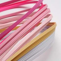 Bandes de papier quilling de 6 couleurs, rose progressive, 390x3mm; à propos 120strips / sac, 20strips / couleur(X-DIY-J001-3mm-A03)