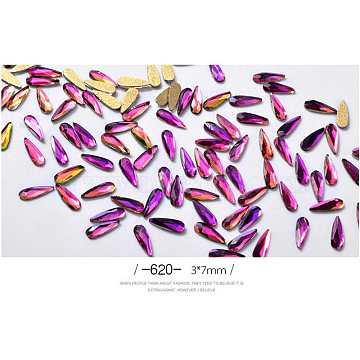 Purple Drop Rhinestone