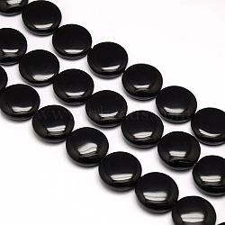 """Rondes plat naturel perles d'obsidienne brins, 20x9mm, trou: 1mm; environ 20 pcs/chapelet, 15.74""""(G-L246-06)"""