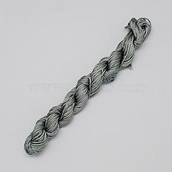 10M fil de bijoux en nylon, corde de nylon pour les bracelets personnalisés tissés faisant, grises , 2mm(X-NWIR-R002-2mm-18)