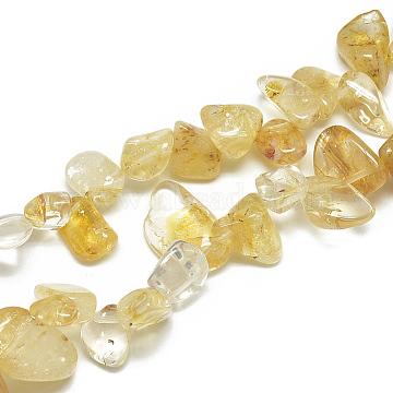 8mm Chip Citrine Beads