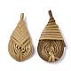 Handmade Reed Cane/Rattan Woven Pendants(WOVE-Q077-04)-2