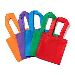 Eco-Friendly Reusable Bags, Non Woven Fabric Shopping Bags, Mixed Color, 28x15.5cm(X-ABAG-WH005-15cm-M)