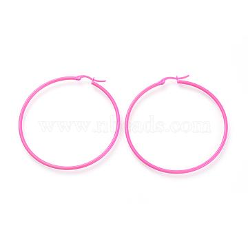 HotPink Stainless Steel Earrings