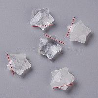 натуральные кристаллы кварца, звезда, граненый, 13~13.5x14~14.5x6~6.5 mm, отверстия: 0.8 mm