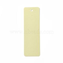 Carte de papier kraft vierge, nacré, carte de signet de bricolage, rectangle, jaune de champagne, 142~145x46~47x0.3~0.4mm, Trou: 5mm(DIY-WH0134-D10)