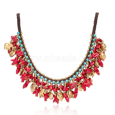 Red Synthetic Turquoise Necklaces