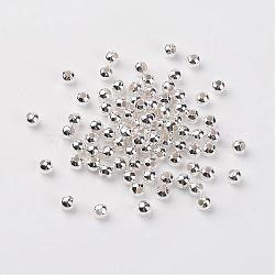 De fer ronde séparateurs perles, couleur argentée, 5mm, Trou: 2mm(X-E146Y-S)