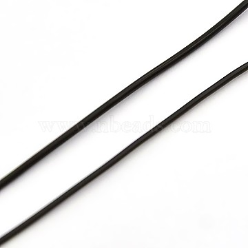 Korean Elastic Crystal Thread, Jewelry Beading Cords, Stretch Bracelet String, Round, Black, 0.6mm, about 1093.61 yards(1000m)/roll(EW-L001-A-02)