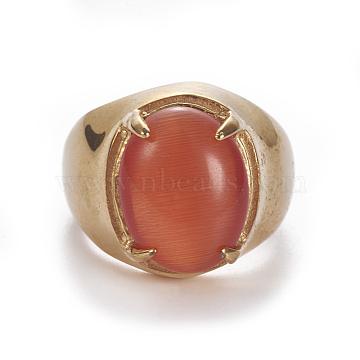 OrangeRed Stainless Steel Finger Rings