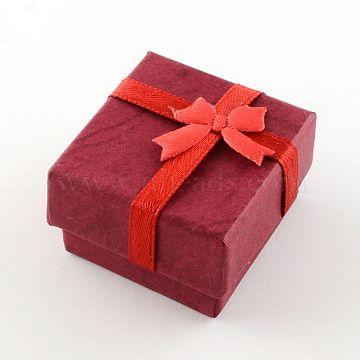 FireBrick Square Paper Ring Box