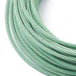 Braided Steel Wire Rope Cord, Medium Aquamarine, 2x2mm, 10m/Roll(TWIR-Z001-07)