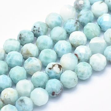 8mm Round Larimar Beads