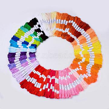 Cotton Cords, Macrame Cord, Embroidery Thread, Mixed Color, 200x160mm, about 8.74 yards(8m)/skein, 100skeins/box(OCOR-R013-01-B)