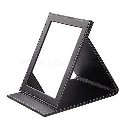 PU Leather Mirrors, Rectangle, Black, 23x18.1x2.1cm(MJEW-D002-01)