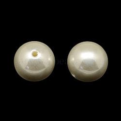 Perles rondes en plastique ABS imitation perle, cornsilk, 20mm, Trou: 3mm(X-SACR-Q123-20mm)
