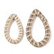 Handmade Reed Cane/Rattan Woven Linking Rings(WOVE-T006-006A)-2