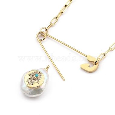 Natural Pearl Pendant Necklaces(NJEW-JN03018-01)-4