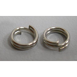 Iron Split Rings, Nickel Free, Platinum, 4x1.4mm; about 3.3mm inner diameter; about 600pcs/30g(X-JRD4mm-NF)