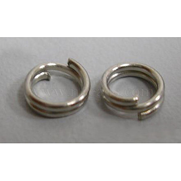 Iron Split Rings, Cadmium Free & Nickel Free & Lead Free, Platinum, 4x1.4mm; about 3.3mm inner diameter; about 600pcs/30g(X-JRD4mm-NF)