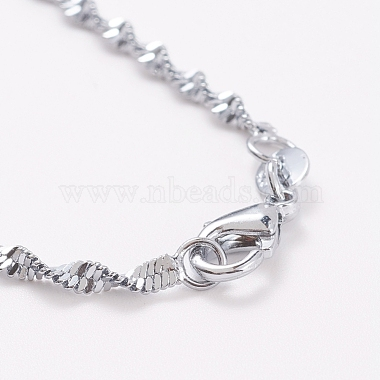 Stainless Steel Singapore Chain Necklaces(NJEW-D117-01P)-3