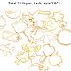 Alloy Open Back Bezel Pendants(PALLOY-PH0005-03G)-4