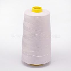 Fil à coudre 100% fibre de polyester filée, blanc, 0.1 mm; environ 5000 mètres / rouleau(OCOR-O004-A01)