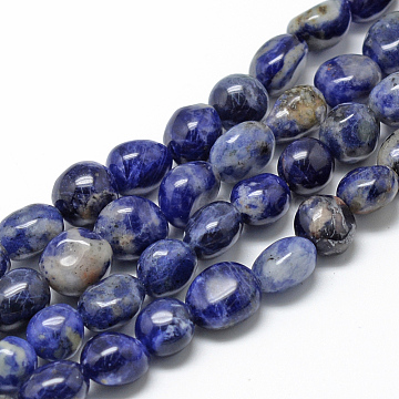 8mm Oval Sodalite Beads