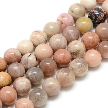 6mm Round Sunstone Beads