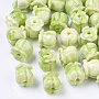 Synthetic Coral Beads, Dyed, Two Tone, Tulip, Yellow Green, 8.5x8mm, Hole: 1.5mm