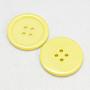 cmолы кнопки, окрашенный, плоские круглые, желтый, 22x3 mm, отверстия: 2 mm; 195 шт / мешок