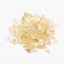 натуральный цитрин бисер, нет отверстий / незавершенного, чипсы, 5~19x2~5 мм; о 50 г / мешок(G-J370-07)