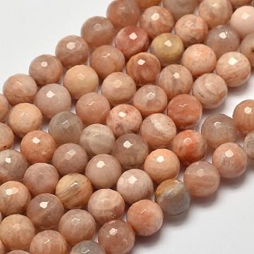 8mm Round Sunstone Beads