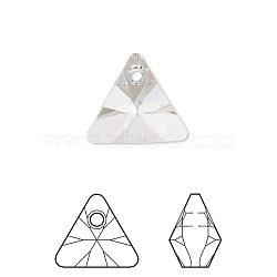 pendentif en strass cristal autrichien, 6628, passions de cristal, xilion triangle, 001 _crystal, 8x8x5 mm, trou: 1 mm(X-6628-8mm-001(U))