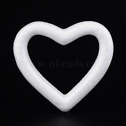 Bricolage de décoration modelage du coeur mousse de polystyrène / mousse de polystyrène, blanc, 126x134x23mm(DJEW-M005-05)
