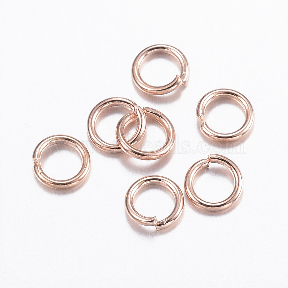 UK 20 Golden Stainless Steel 5mm Jump Rings 1mm 18 Gauge