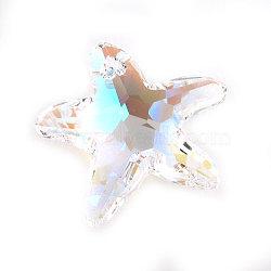 pendentifs en cristal autrichien, étoiles de mer, cristal Aurore Boréale, 16 mm de large(X-6721-16MM-001AB)