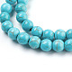 Synthetic Turquoise Beads Strands(X-TURQ-S192-8mm-2)-3