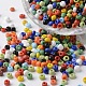 6/0 Opaque Colors Round Glass Seed Beads(X-SEED-K003-4mm-M04)-1