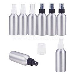 bouteilles en aluminium rechargeables, pulvérisateur de salon de coiffure, vaporisateur d'eau, platine, couleur mélangée, 14.4x4.5 cm; capacité: 120 ml(MRMJ-PH0001-12)