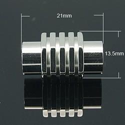 Fermoirs magnétiques en 304 acier inoxydable, colonne, 21x13.5mm, Trou: 8mm(X-STAS-C005-1)