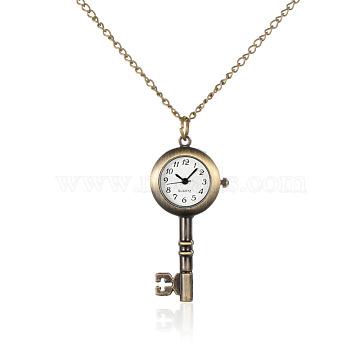 White Iron+Alloy Quartz Watch