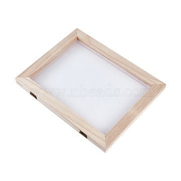 Wooden Paper Making, Papermaking Mould Frame, Screen Tools, for DIY Paper Craft, BurlyWood, 25x19x2.1cm(DIY-WH0171-46B)