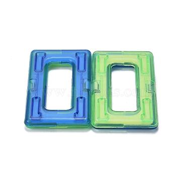 DIY Plastic Magnetic Building Blocks, 3D Building Blocks Construction Playboards, for Kids Building Toys Gift Accessories, Rectangle, Random Single Color or Random Mixed Color, 59x34x5.5mm(DIY-L046-10)