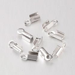 Sterling embouts d'argent, platine, 1.5mm; trou: 1.5mm; environ 925pcs / 100g(H160A-P)