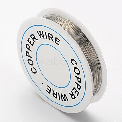 fil de bijoux de cuivre, argent, Jauge 32, 0.2 mm; sur 40 m / rouleau(X-CW0.2mm006)