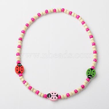 Stretchy Wood Jewelry Sets: Necklaces & Bracelets for Kids(SJEW-JS00669)-4