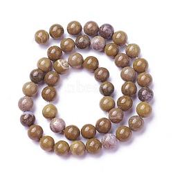pierres précieuses naturelles brins de perles, arrondir, 8 mm, trou: 0.8 mm, environ 47 pcs / brin, 15.2 (38.5 cm)(G-P424-D-8mm)