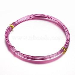 Fil d'aluminium, rose foncé, 20 jauge, 0.8mm, 10m/rouleau(AW-D009-0.8mm-10m-20)