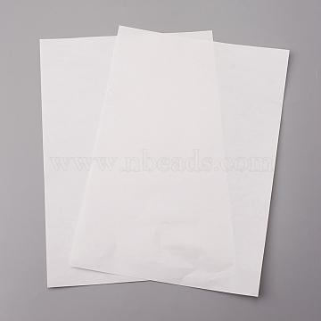 papier de libération de peinture au diamant, papier antiadhésif double face, blanc, 30x21x0.02 cm; 100 feuilles / sac(AJEW-WH0113-28)